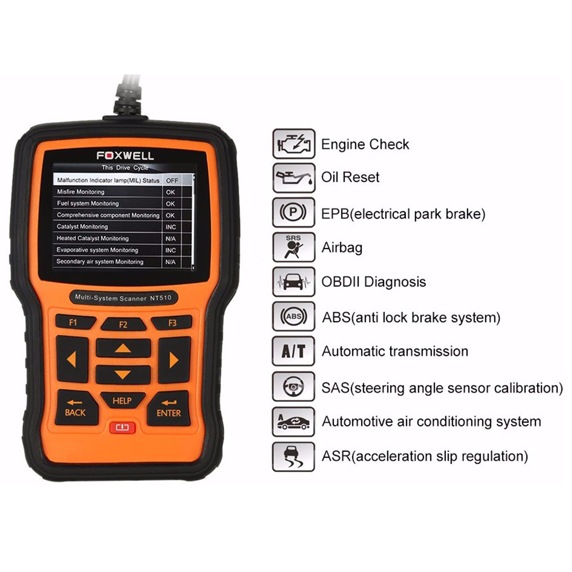 NT510 FOR PORSCHE 991 DIAGNOSTIC SCANNER OBD2 CAR SCAN TOOL CODE READER SRS  ABS