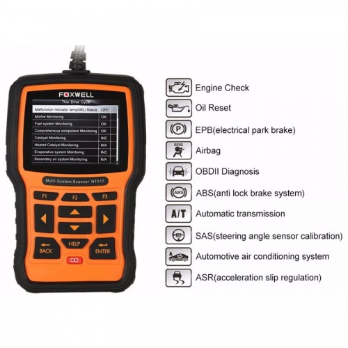NT510 Multisystem Scanner for Toyota incl  maintenance reset