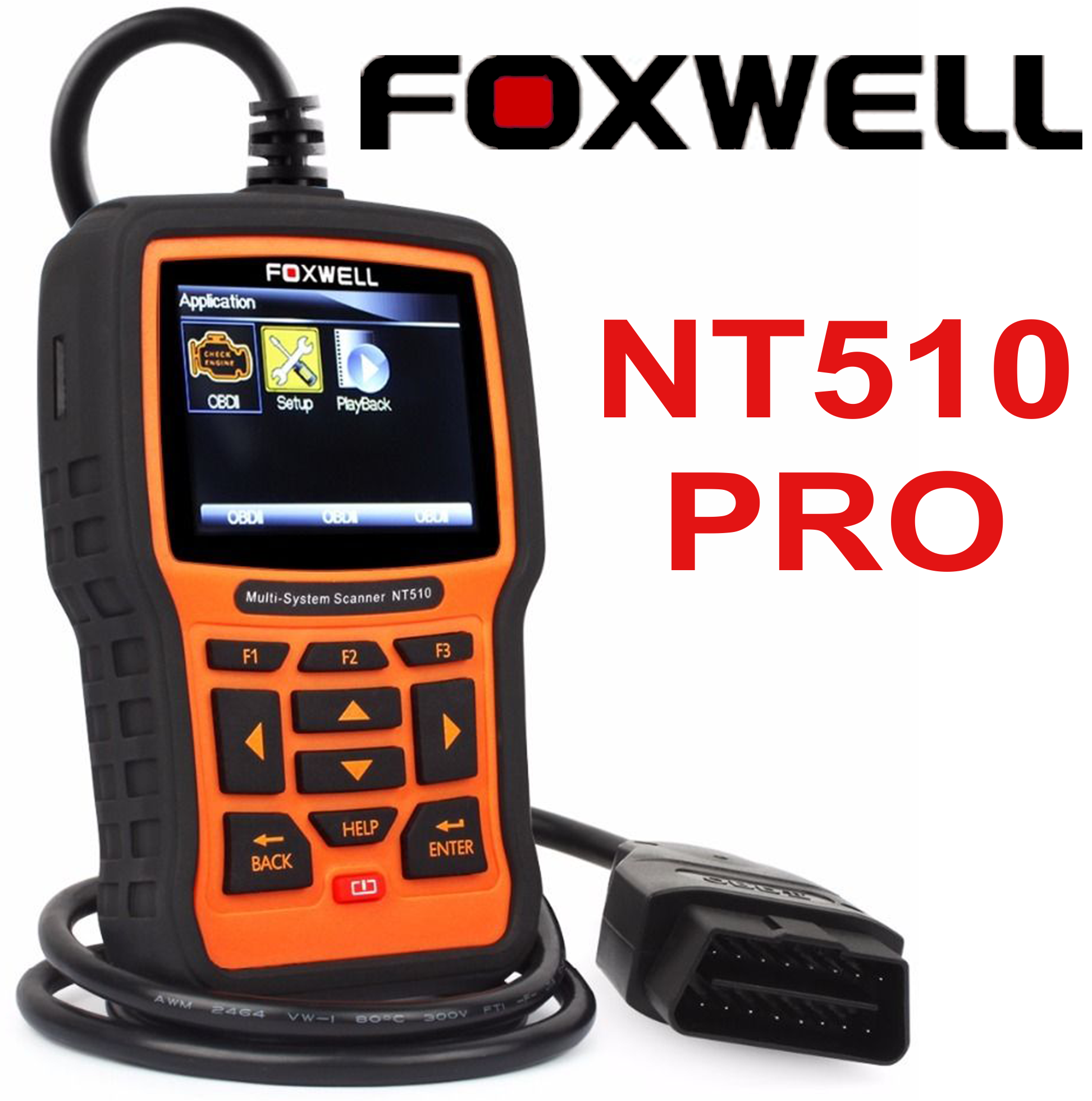 Foxwell Nt510 for MAZDA Scrum Obd2 Diagnostic Scanner Error Fault Code ABS  SRS